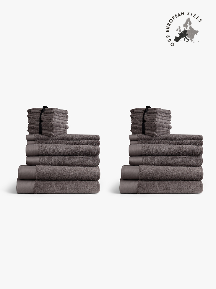 SPIRIT TOWEL SET LARGE - Misty Grey Europe in the group BATHROOM / TOWEL SETS/EUROPE at Spirit of the Nomad International AB (410017)